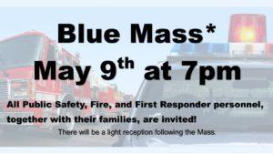 Blue Mass announcement